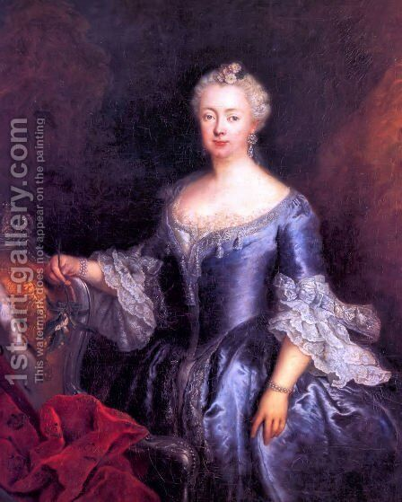 Queen Elisabeth Christine by Antoine Pesne - Reproduction Oil Painting