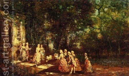 Visit to a Princess by Adolphe Joseph Thomas Monticelli - Reproduction Oil Painting