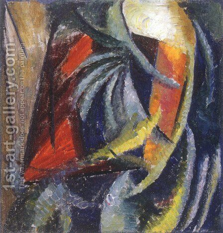 Abstract Composition 3 by Alexander Konstantinovich Bogomazov - Reproduction Oil Painting