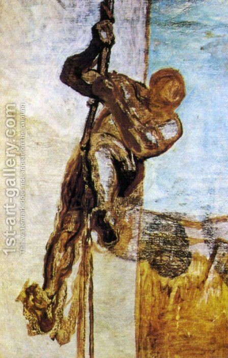 The Man with the cord by Honoré Daumier - Reproduction Oil Painting