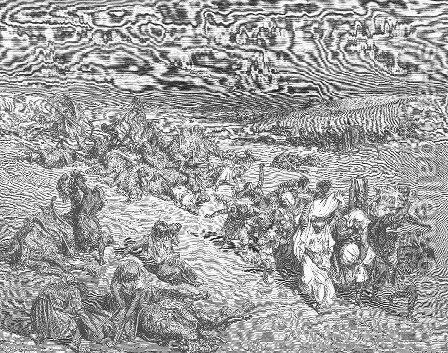 The Fifth Plague. Livestock Disease by Gustave Dore - Reproduction Oil Painting