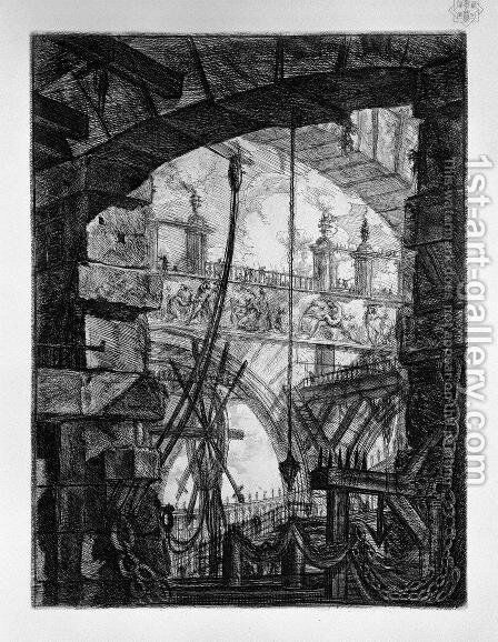 The Grand Piazza by Giovanni Battista Piranesi - Reproduction Oil Painting