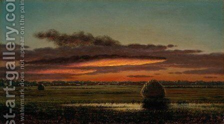 Sunset Over the Marshes by Martin Johnson Heade - Reproduction Oil Painting