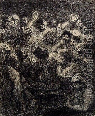 L'Apotre by Theophile Alexandre Steinlen - Reproduction Oil Painting