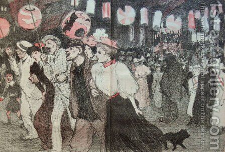 Les Joies Populaires by Theophile Alexandre Steinlen - Reproduction Oil Painting