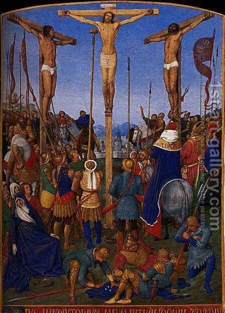 The Crucifixion by Jean Fouquet - Reproduction Oil Painting
