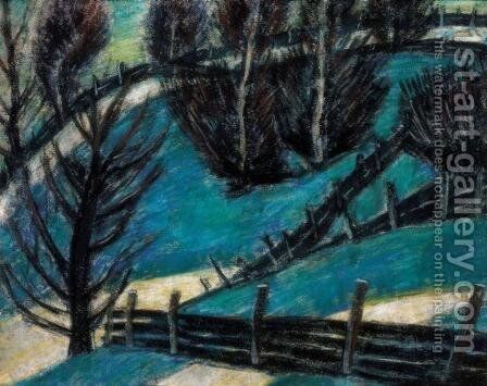 Fences by Istvan Nagy - Reproduction Oil Painting