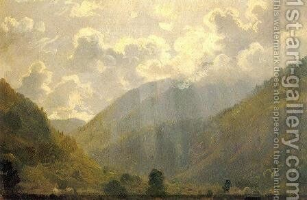 Last Rays by Ivan Shishkin - Reproduction Oil Painting
