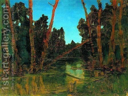 Forest swamp by Arkhip Ivanovich Kuindzhi - Reproduction Oil Painting