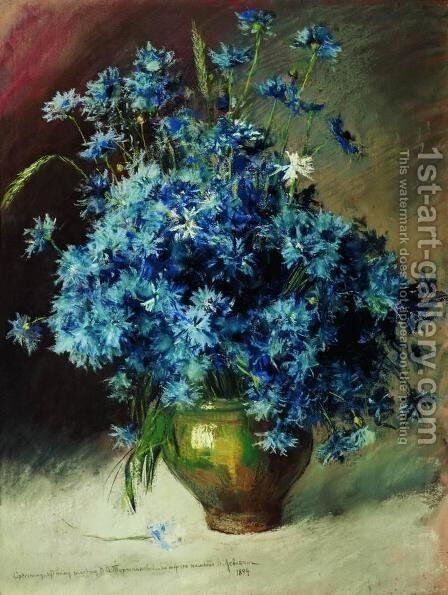 Cornflowers by Isaak Ilyich Levitan - Reproduction Oil Painting