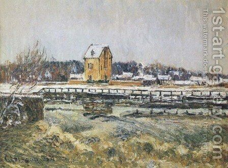 Waterfall at Saint Martin Pontoise by Gustave Loiseau - Reproduction Oil Painting