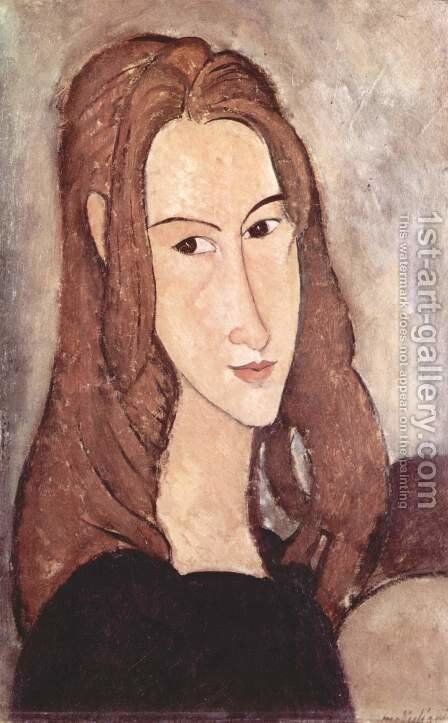 Portrait of Jeanne Hebuterne 2 by Amedeo Modigliani - Reproduction Oil Painting