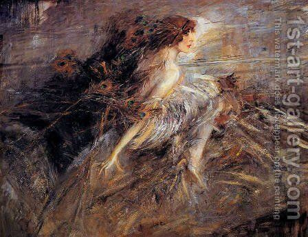 Portrait of the Marquise by Giovanni Boldini - Reproduction Oil Painting
