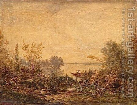 Riverside by Theodore Rousseau - Reproduction Oil Painting