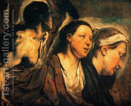 Study of two female heads and torso of a warrior by Jacob Jordaens - Reproduction Oil Painting