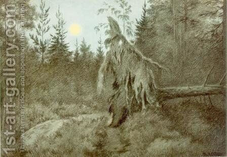 Creepy, Crawly, Rustling, Bustling by Theodor Kittelsen - Reproduction Oil Painting