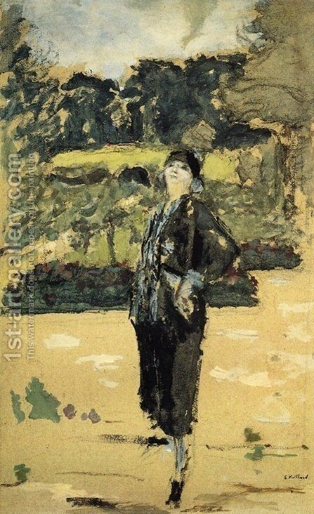 Black Dress by Edouard  (Jean-Edouard) Vuillard - Reproduction Oil Painting