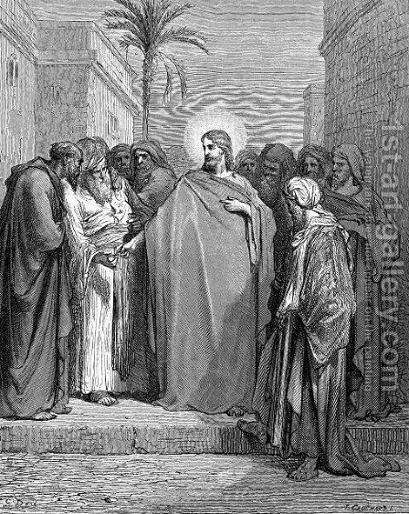 Christ And The Tribute Money by Gustave Dore - Reproduction Oil Painting