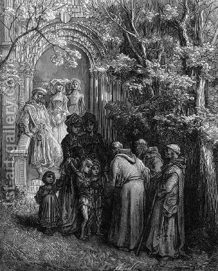 The Sinews of War by Gustave Dore - Reproduction Oil Painting