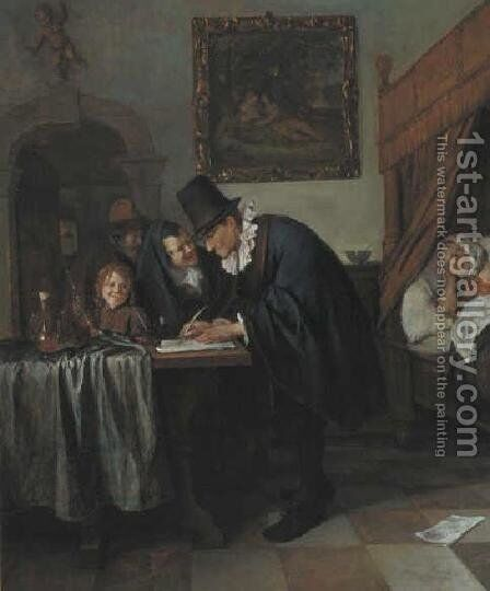 Doctor's visit 3 by Jan Steen - Reproduction Oil Painting