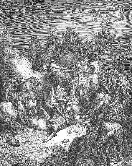 The Punishment of Antiochus by Gustave Dore - Reproduction Oil Painting