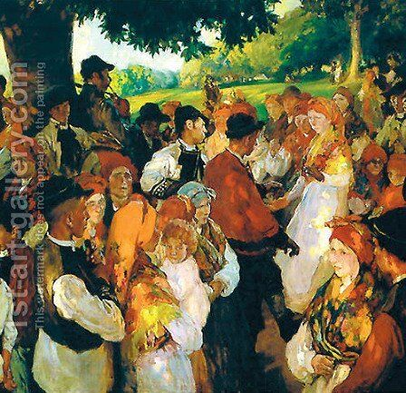 Galician party by Joaquin Sorolla y Bastida - Reproduction Oil Painting