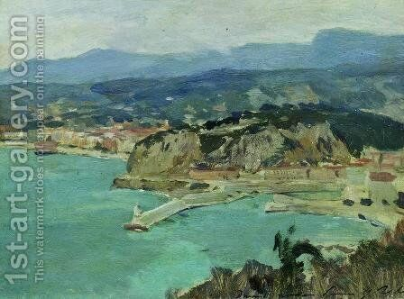 At the lake Como. Italy. by Isaak Ilyich Levitan - Reproduction Oil Painting