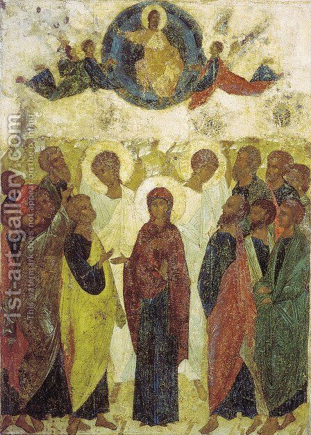 Ascension of Jesus by Andrei Rublev - Reproduction Oil Painting