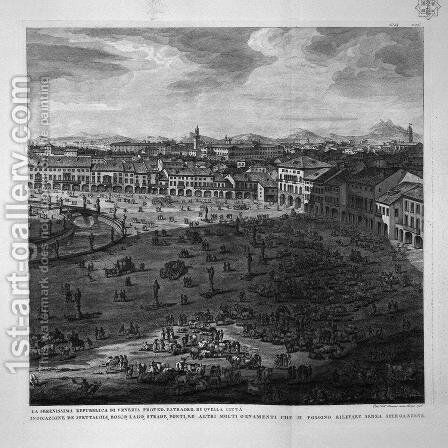 Perspective of New Square in Padua 3 by Giovanni Battista Piranesi - Reproduction Oil Painting