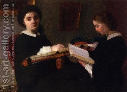The Two Sisters by Ignace Henri Jean Fantin-Latour - Reproduction Oil Painting