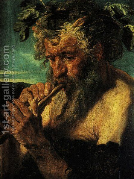 Bust of Satyr by Jacob Jordaens - Reproduction Oil Painting
