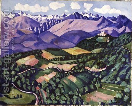 Purple Mountains, Vence by Marsden Hartley - Reproduction Oil Painting
