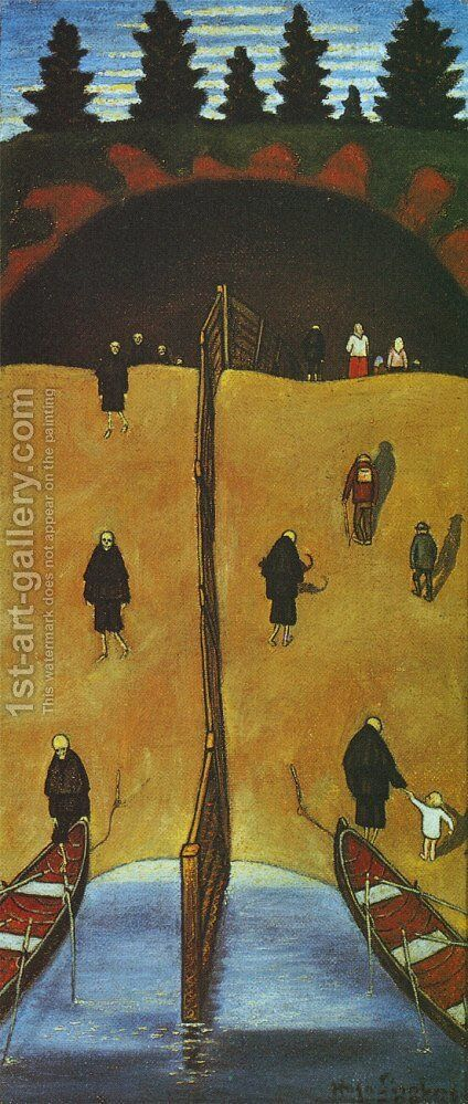 Tuonelan Portilla by Hugo Simberg - Reproduction Oil Painting