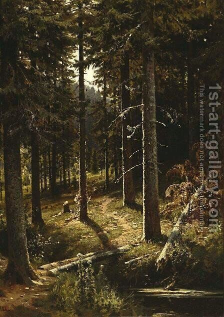 Forest Landscape 8 by Ivan Shishkin - Reproduction Oil Painting