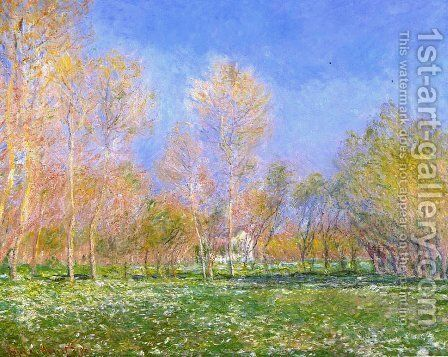 Springtime in Giverny by Claude Oscar Monet - Reproduction Oil Painting