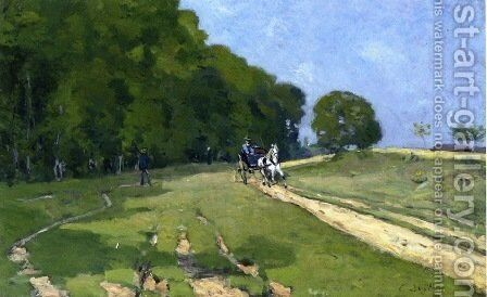 Path near the Parc de Courances by Alfred Sisley - Reproduction Oil Painting