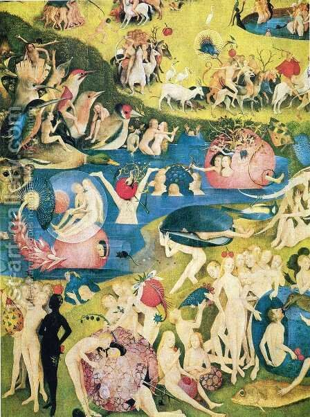 The Garden of Earthly Delights (detail) 3 by Hieronymous Bosch - Reproduction Oil Painting