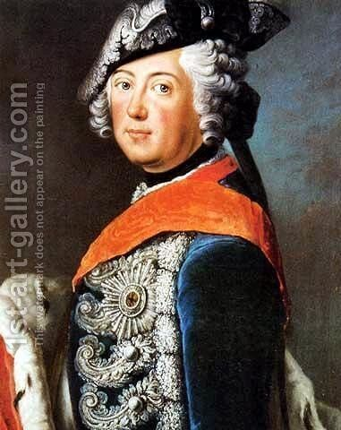Frederick II of Prussia 2 by Antoine Pesne - Reproduction Oil Painting