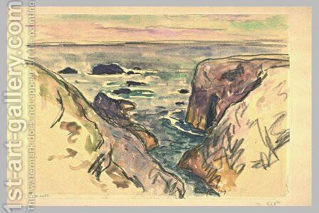 Belle-Ile-en-Mer, Evening, Cote Sauvage by Maxime Maufra - Reproduction Oil Painting
