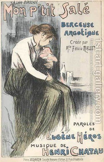 Mon Petit Sale by Theophile Alexandre Steinlen - Reproduction Oil Painting