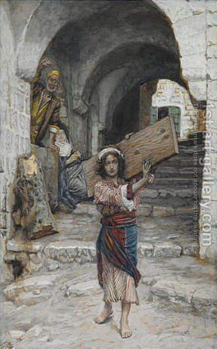 The Youth of Jesus, illustration for 'The Life of Christ' by James Jacques Joseph Tissot - Reproduction Oil Painting