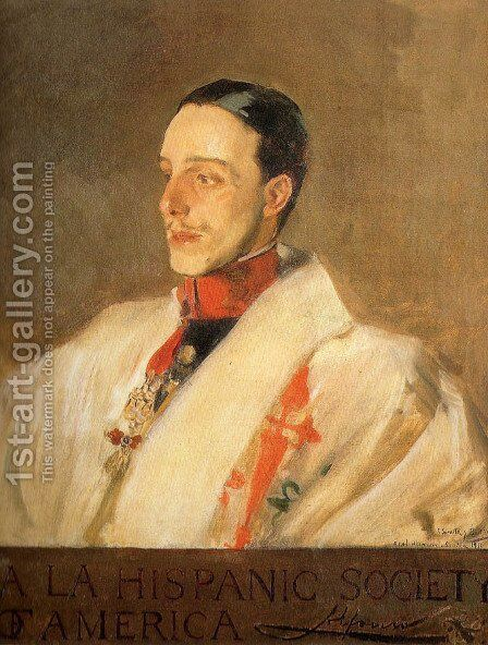 Portrait of King Alfonso by Joaquin Sorolla y Bastida - Reproduction Oil Painting