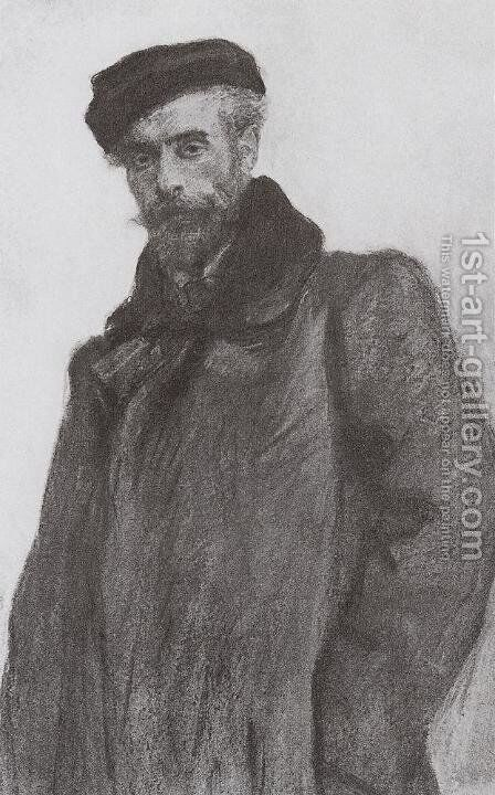 Portrait of the Artist Isaac Levitan by Valentin Aleksandrovich Serov - Reproduction Oil Painting