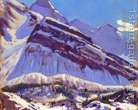 September Snow on Mount Schaffer by James Edward Hervey MacDonald - Reproduction Oil Painting