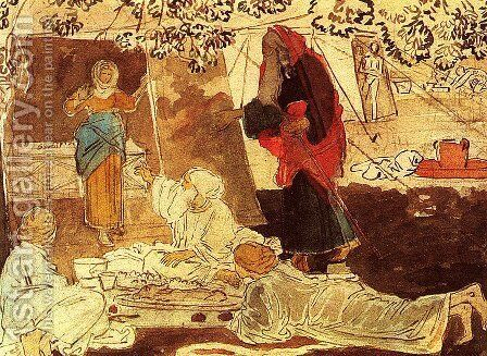 Three pilgrim announce Abraham the birth of Isaac by Alexander Ivanov - Reproduction Oil Painting