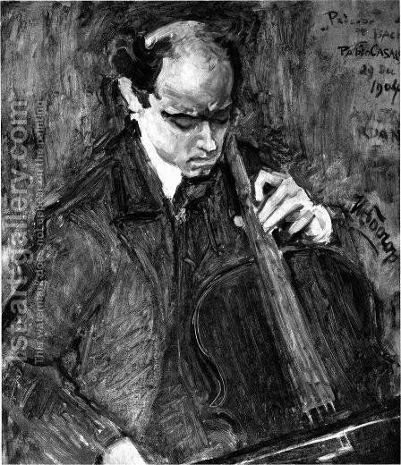 Pablo Casals by Jan Toorop - Reproduction Oil Painting