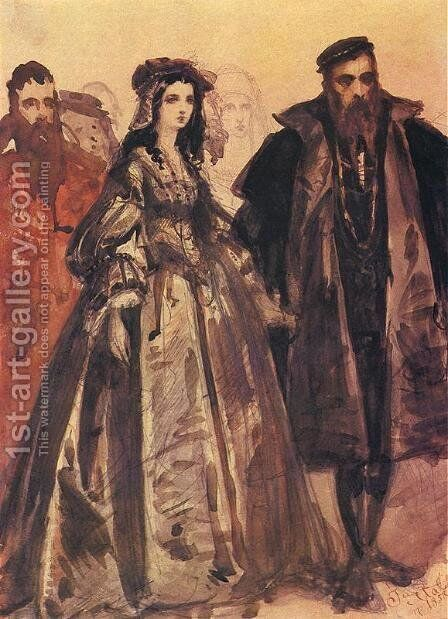 Sigmund and Barbara 2 by Jan Matejko - Reproduction Oil Painting
