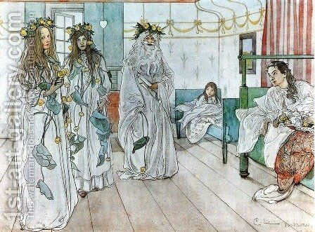 For Karin's name day by Carl Larsson - Reproduction Oil Painting