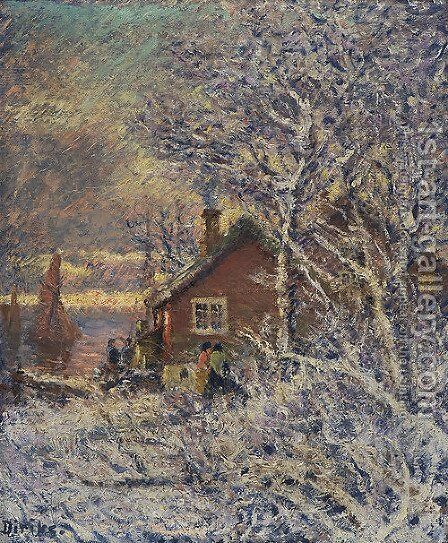 From Drobak by Carl-Edvard Diriks - Reproduction Oil Painting