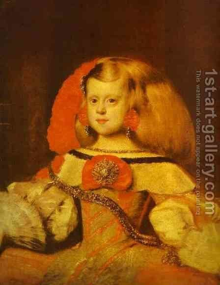 Portrait of the Infanta Margarita by Velazquez - Reproduction Oil Painting
